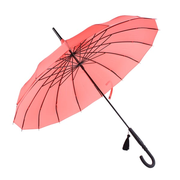 Boutique Classic Pagoda umbrella in Coral