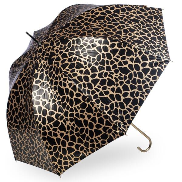 Metallic Animal Print Giraffe Umbrella Gold