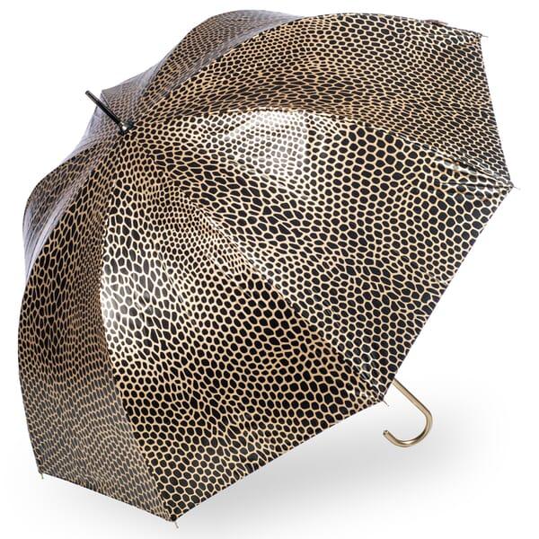 Snake Skin Animal Print Umbrella Metallic Gold