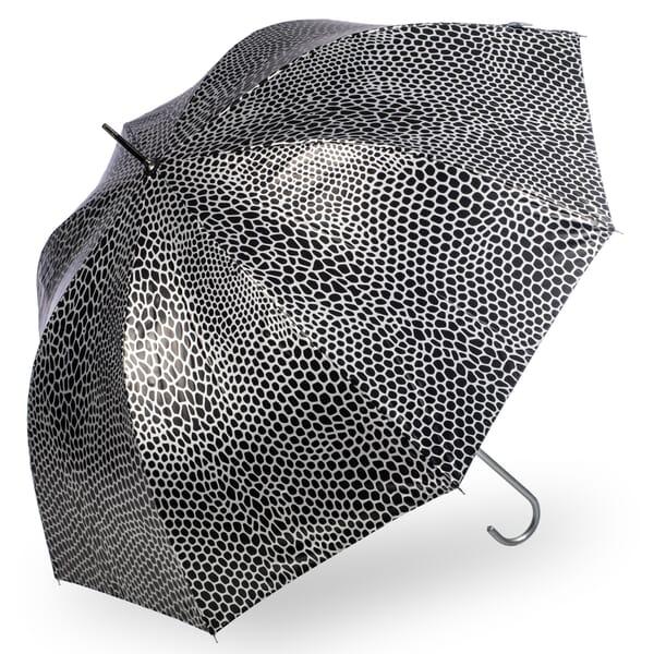 Soake Metallic Snake Skin Print umbrella Silver