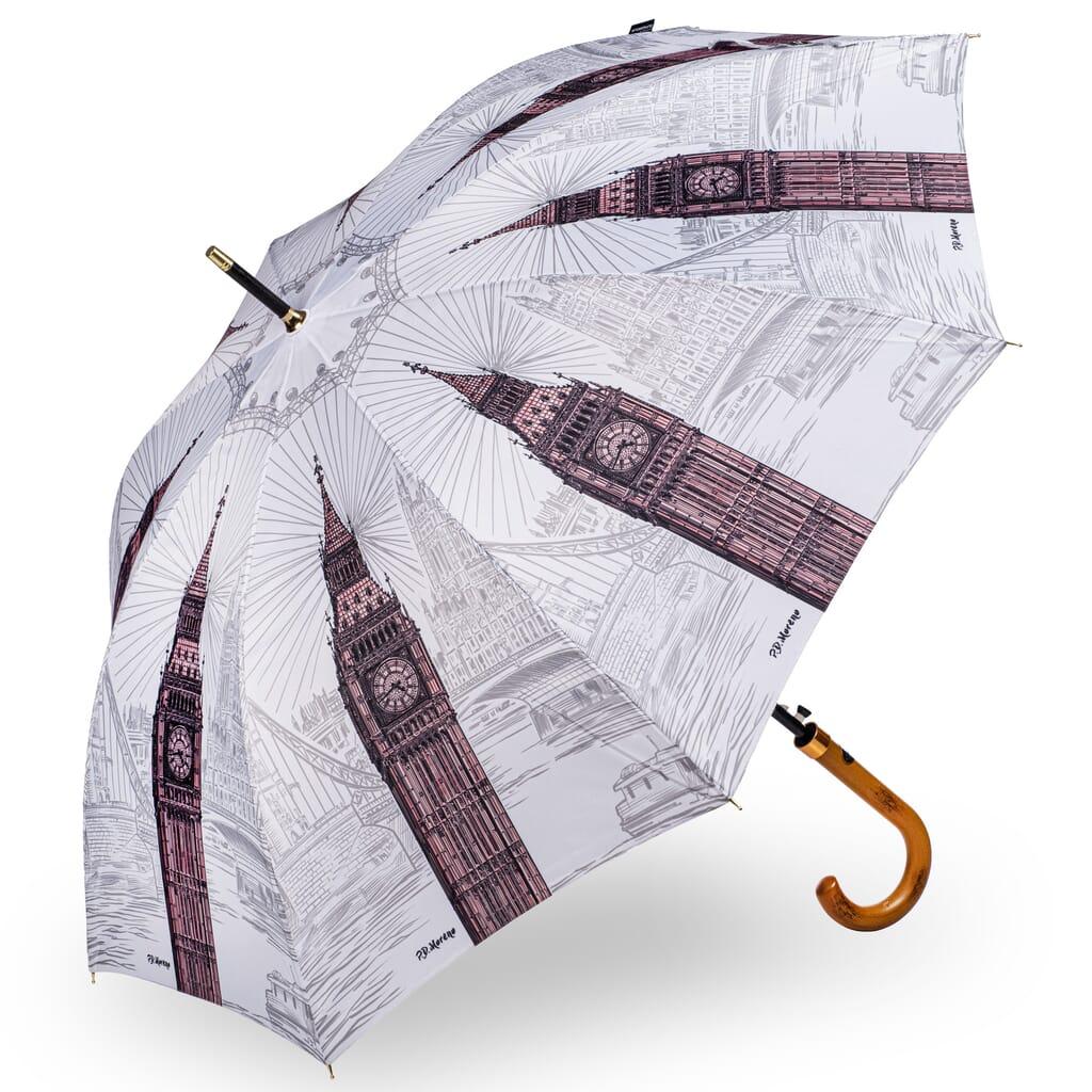 StormKing London Black and White Umbrella