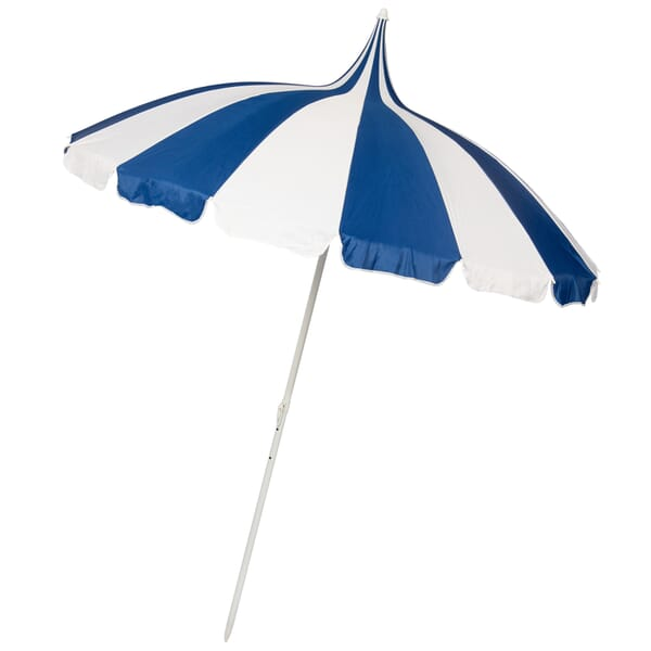 Navy and Cream Pagoda style garden parasol
