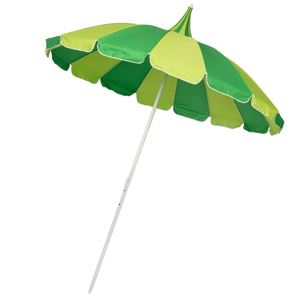 Soake Pagoda style garden parasol green