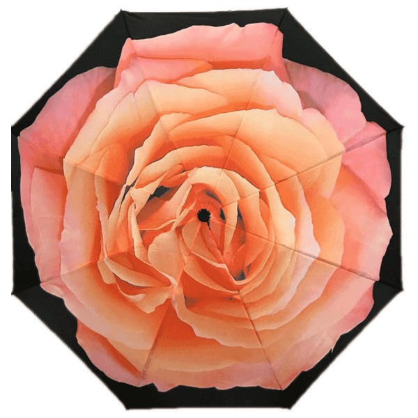 Soake Reverse Folding Pink Rose umbrella